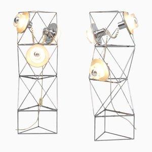 Poliedra Stehlampen von Felice Ragazzo für Guzzini, 1969, 2er Set