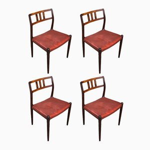 Model 79 Rosewood Dining Chairs by Niels O Møller for J.L. Møllers, 1960s, Set of 4