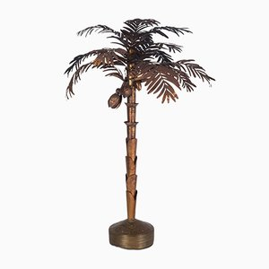 Hollywood Regency Copper Palm Tree Floor Lamp
