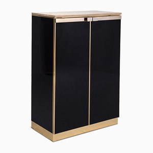 Hollywood Regency Brass & Lacquered Highboard from Belgo Chrom, 1970s
