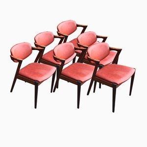 Chaises de Salle à Manger Mid-Century par Kai Kristiansen pour Schou Andersen, 1960s, Set de 6