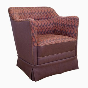 Dänischer Sessel mit Wollbezug, 1950er