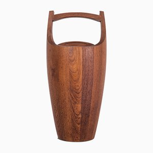 Scandinavian Solid Teak Ice Bucket by Jens Quistgaard, 1960s