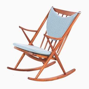 Rocking Chair en Teck par Frank Reenskaug pour Bramin, 1960s