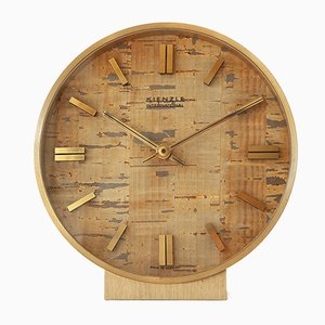 Brass & Cork Table Clock from Kienzle International, 1970s