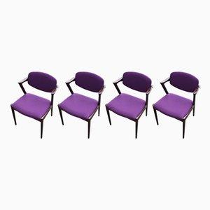 Mid-Century Modell 42 Stühle aus Palisander von Kai Kristiansen für Schou Andersen, 1960er, 6er Set