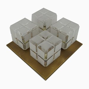 Set de 2 Appliques Murales Cubiques de Hillebrand, 1960s