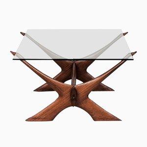 Tavolino da caffè Condor vintage di Fredrik Schriever-Abeln per Örebro Glas, anni '60