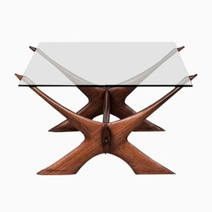 Vintage Condor Coffee Table by Fredrik Schriever-Abeln for Örebro Glas, 1960s