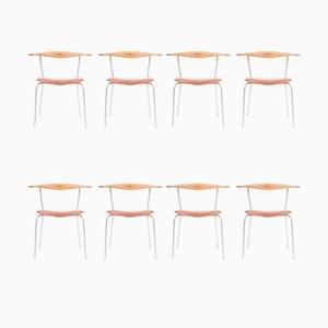 Chaises d'Appoint par Hans J. Wegner pour Johannes Hansen, Set de 8