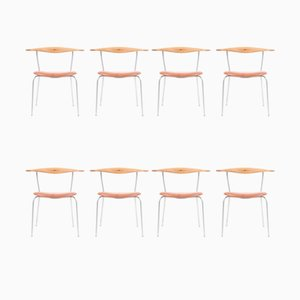 Side Chairs by Hans J. Wegner for Johannes Hansen, Set of 8