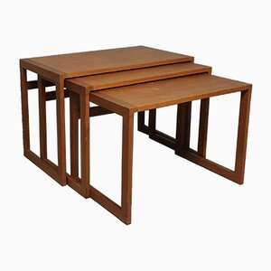 Danish Mid-Century Teak Nesting Tables by Kai Kristiansen, 1960s