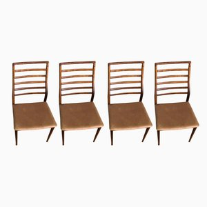 High-Back Rosewood Chairs by Erling Torvits, 1960s, Set of 4