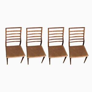 Palisander Stühle mit hoher Rückenlehne von Erling Torvits, 1960er, 4er Set