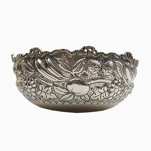 Large Victorian 800 Silver Bowl, 1890s