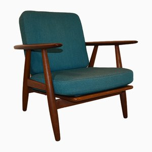 GE240 Teak Easy Chair by Hans J. Wegner for Getama, 1960s
