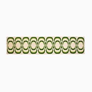 Tappeto modello Candria verde di Inver, anni '70
