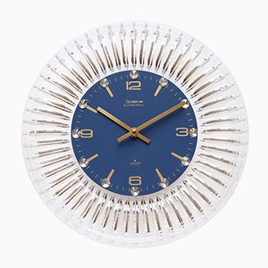 Horloge Murale Vintage Crystal en Verre de Junghans & Joska