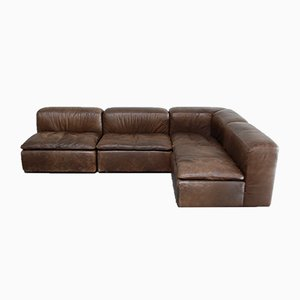 Vintage WK 550 Leather Sofa by Ernst Martin Dettinger for WK Möbel