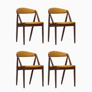 Sedie da pranzo di Kai Kristiansen per Schou Andersen, anni '60, set di 6