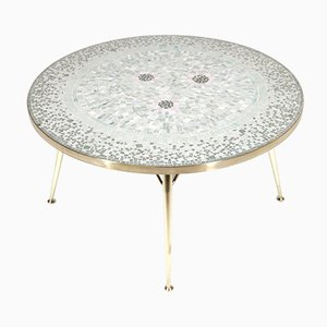 German Coffee Table with Mosaic Top by Berthold Müller, 1950s