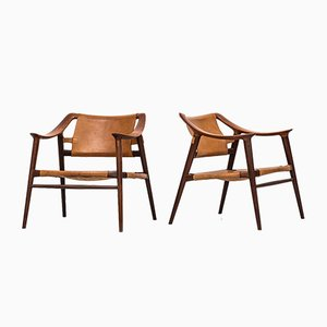 Model 56/2 Bambi Easy Chairs by Rolf Rastad & Adolf Relling for Gustav Bahus, 1950s, Set of 2