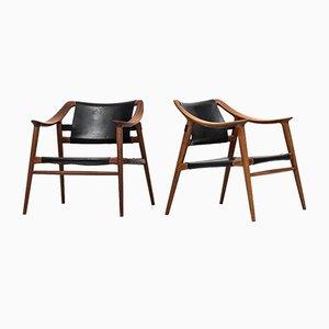 56/2 Bambi Easy Chairs by Rolf Rastad & Adolf Relling for Gustav Bahus, 1950s, Set of 2