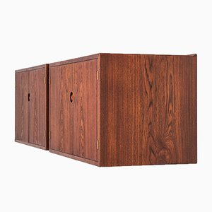 Wall-Mounted Sideboards by Hans J. Wegner for Johannes Hansen, 1950s, Set of 2