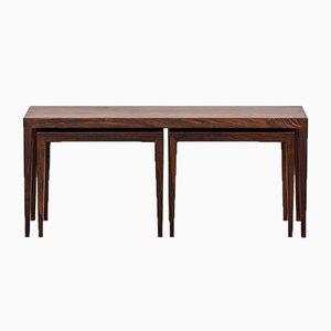 Tavolini ad incastro di Severin Hansen per Haslev Møbelsnedkeri, anni '50