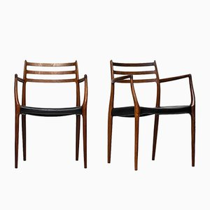 Mid-Century Model 62 Armchairs by Niels O. Møller for J.L Møllers møbelfabrik, Set of 2