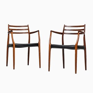 Model 62 Armchairs by Niels O. Møller, 1960s, Set of 2