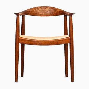 Vintage JH-501 Armlehnstuhl von Hans J. Wegner für Johannes Hansen