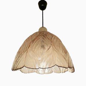 Lámpara colgante grande ámbar de Peill and Putzler, años 60