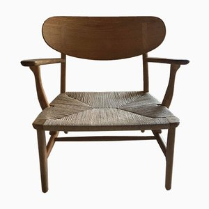 CH22 Armehnstuhl von Hans J. Wegner für Carl Hansen & Son, 1950er