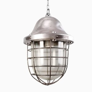Large Industrial Pendant Lamp, 1959