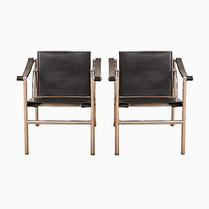 Vintage LC1 Armchairs by Le Corbusier & Charlotte Perriand for Cassina, Set of 2