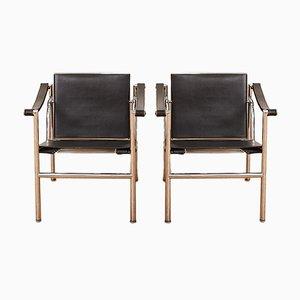 Vintage LC1 Armlehnstühle von Le Corbusier & Charlotte Perriand für Cassina, 2er Set