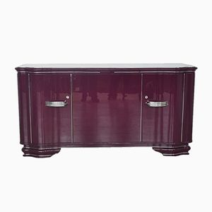 Art Deco Lilac Sideboard with Chrome Handles, 1920s
