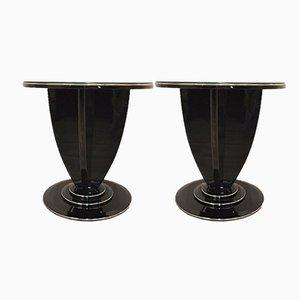 Art Deco Beistelltische mit Klavierlack, 1930er, 2er Set