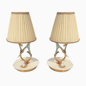 Lampade da tavolo piccole di Angelo Lelii per Arredoluce, anni '40, set di 2