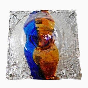 Lampada da parete o da soffitto vintage in vetro di Murano di Toni Zuccheri per Venini