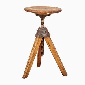 Schweizer Vintage Holzhocker