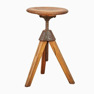 Vintage Swiss Workshop Stool