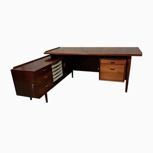 Mid-Century Danish Palisander Desk by Arne Vodder for Sibast Møbler