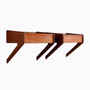 Tables de Chevet en Teck par Omann Junior pour Ørum Møbelfabrik, 1960s, Set de 2
