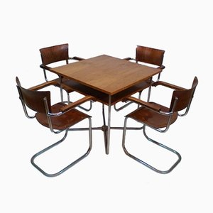 Chairs & Table Set by Robert Slezák, 1930s