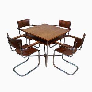 Juego de mesa y sillas de Robert Slezák, años 30