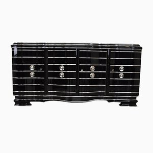 Art Deco Chrome Lined Sideboard, 1920s