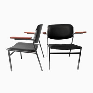 Modernistische stapelbare Armlehnstühle von Martin Visser, 1960er, 2er Set