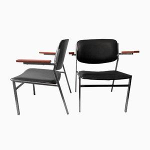 Sedie da cocktail basse impilabili moderniste di Martin Visser, anni '60, set di 2